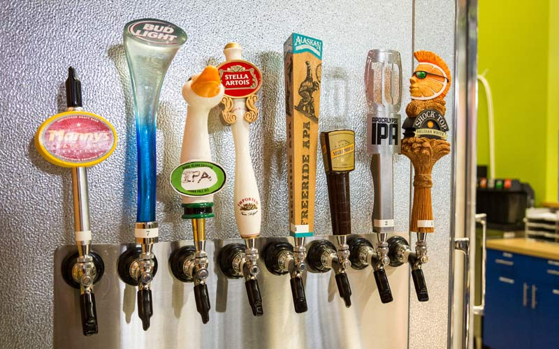 Arena Sports SODO Location Beer Taps