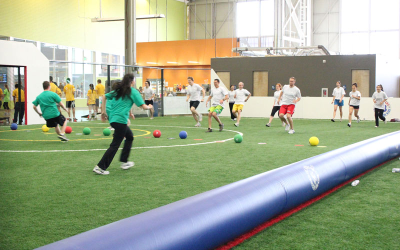 Group Events Dodgeball Game at Indoor Field